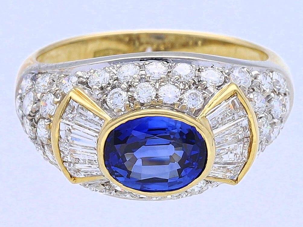 ring 2 70 karat brillanten diamanten saphir 750 gold wert ca eur ebay. Black Bedroom Furniture Sets. Home Design Ideas
