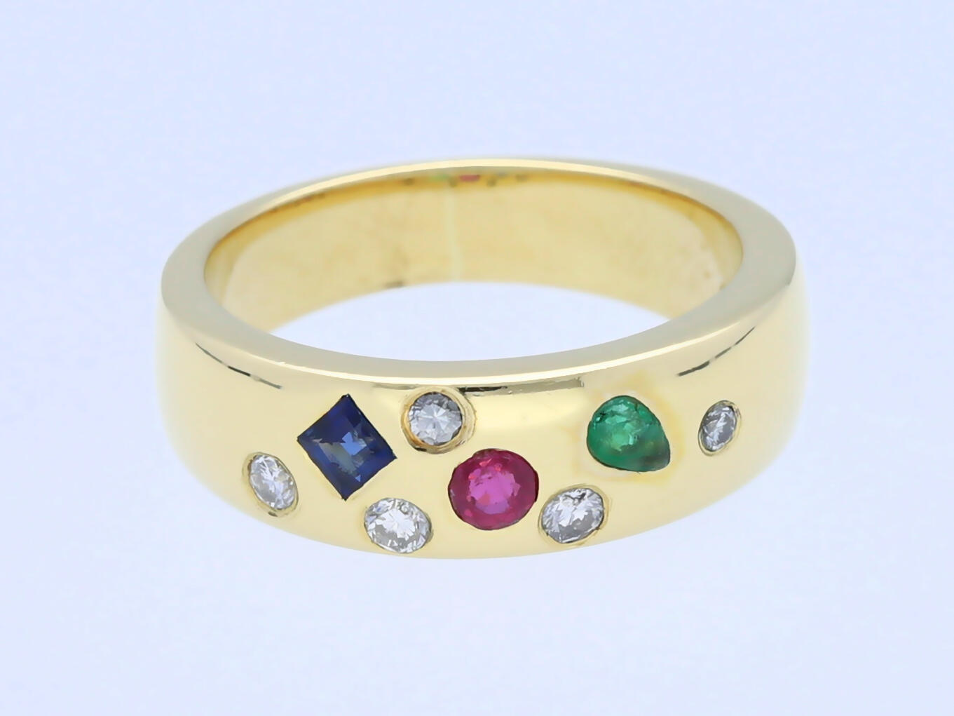 sternhimmel ring brillanten rubin saphir smaragd 750 gold wert ca eur ebay. Black Bedroom Furniture Sets. Home Design Ideas