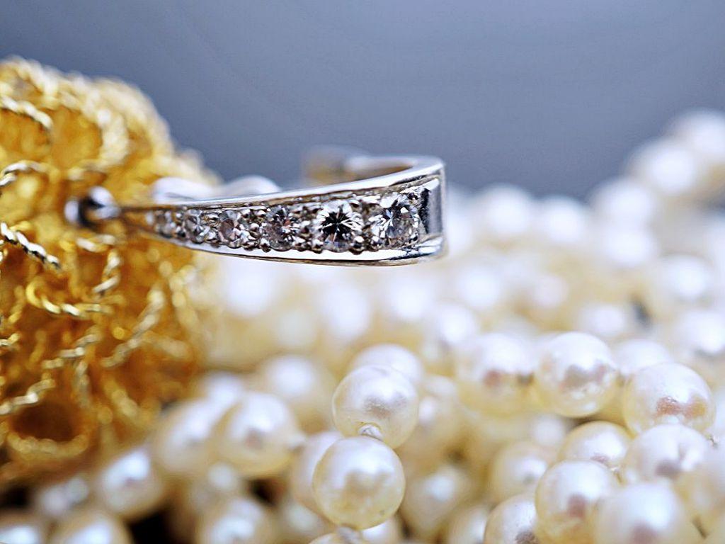 perlen kette anh nger collier brillanten diamanten 750 gold wert eur ebay. Black Bedroom Furniture Sets. Home Design Ideas