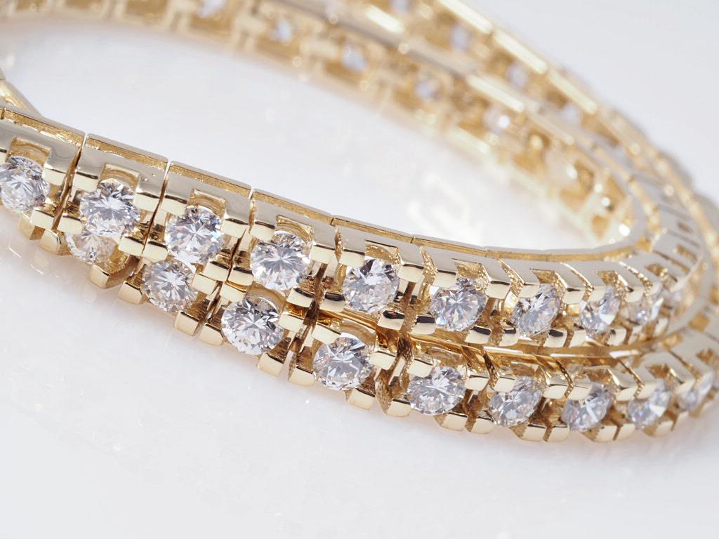 tennis memory armband 2 28 karat brillanten 750 gold wert ca eur ebay. Black Bedroom Furniture Sets. Home Design Ideas